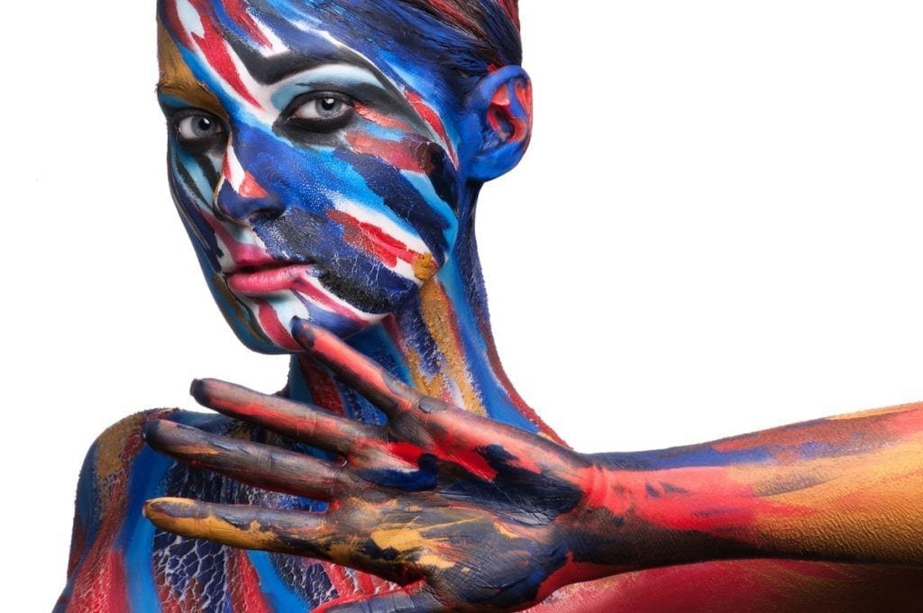 Maquillaje corporal o body painting