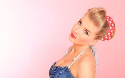 maquillaje de chica pin up